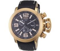 Herren-Armbanduhr Chronograph Leder EL900211003