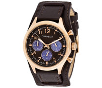 Damen-Armbanduhr Vogue Chronograph Quarz Leder