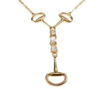 Halskette mit Anhnger Vergoldetes Metall mit Cubic Zirkonia wei PK-016