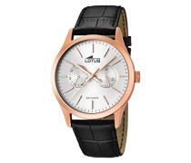Herren-Armbanduhr Analog Quarz Leder 15958/1