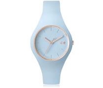 ICE glam pastel Lotus - Blaue Damenuhr mit Silikonarmband - 001063 (Small)