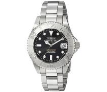 24631 Pro Diver Uhr Edelstahl Quarz schwarzen Zifferblat
