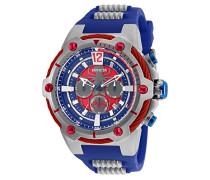 25989 Marvel - Spiderman Uhr Edelstahl Quarz blauen Zifferblat