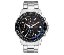 Multi Zifferblatt Quarz Uhr mit Edelstahl Armband SO-3486-MM