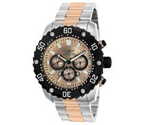22520 Pro Diver Uhr Edelstahl Quarz roségoldenen Zifferblat