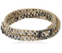 Jewelry Armband Messing Leder Spring bracelets 59.0 cm grau 291413172