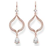 Ohrhänger Glam & Soul Silber vergoldet teilvergoldet Zirkonia weiß - H1841-416-14