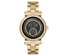 Damen Smartwatch Sofie MKT5021, Gold/Schwarz