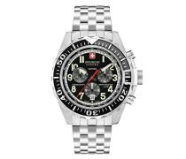 Chronograph Quarz Uhr mit Edelstahl Armband 06-5304.04.007