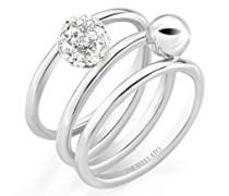 Ring LUMINOSA Edelstahl Kristall Weiß SAET09012