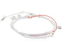 Armband Versilbert mattiert Kristall pink Rundschliff 55 cm - 131716712