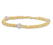 Armband Silber vergoldet Zirkonia weiß Brillantschliff 18.5 cm -
