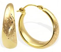 Creolen Gelb Gold 333 teilweise poliert und matt Pr O4332GG Ohrringe Schmuck