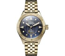 Analog Quarz Uhr mit Edelstahl Armband VV160NVGD