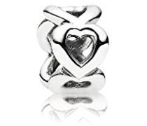 Silber Zwischenelement Offene Herzen 790454