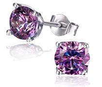 Ohrringe silber/violett Schmuck