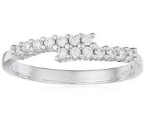 Ring 375 Weißgold 9 K Oxyde de Zirconium R1631W-K