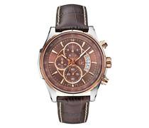 Chronograph Quarz Uhr mit Leder Armband X81002G4S
