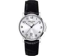 Armbanduhr XL Analog Quarz Leder C017.410.16.032.00