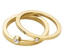 Stapelring 16/02 Calders Ii Sg Edelstahl teilvergoldet Kristall transparent Prinzess