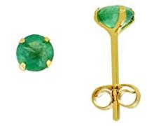 Ohrstecker Gelbgold 9 kt Smaragd borb01006