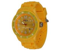 Summertime – fa-1023 – 61 – Armbanduhr – Quarz Analog – Zifferblatt Gelb Armband Silikon Gelb