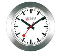 Offizielle Schweizer Bahnhofsuhr, Tisch-/ Magnet-Uhr Aluminium