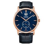 Analog Quarz Uhr mit Leder Armband 64012-37R-BUIR