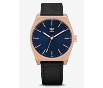 Analog Quarz Smart Watch Armbanduhr mit Leder Armband Z05-2967-00