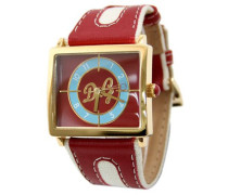 WATCH SIOUX IPG RED/LIGHT BLUE DIAL RED STRAP DW0177