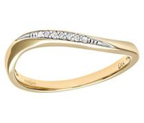 Damen-Ring 9 K 375 Weißgold 1 Diamant