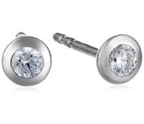 Ohrstecker 925/- Sterling Silber Zirkonia weiß 371220280