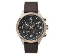 Herren-Armbanduhr Analog Quarz Leder TW2P73400