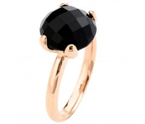 Damen-Ring Bronze Cocktail Onyx Gewicht 5,1g