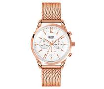 Chronograph Quarz Uhr mit Edelstahl Armband HL39-CM-0034
