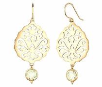 Ohrhänger Ornament vergoldet 925 Sterling Silber Quarz gelb Brillantschliff 0303341015