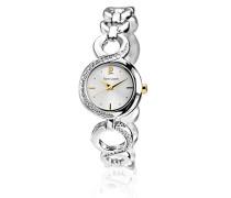 Damen-Armbanduhr Analog Quarz Silber 102M721