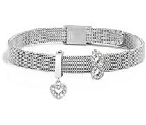 Damen-Charm-Armbänder Edelstahl Kristall SAJT28