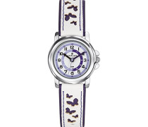 647589 Analoge Armbanduhr, Quarz, schwarzes Zifferblatt