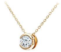 Kette mit Anhänger 9 K 375 Gelbgold Diamant weiß 46 cm PP01506Y
