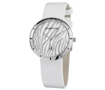 Damen-Armbanduhr Zebra Analog Quarz Leder