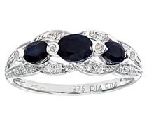 Ring 9 K 375 Weißgold Saphir Diamant 0