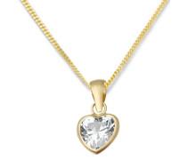 Halskette Herz 9 Karat 375 Gelbgold Zirkonia 45cm MA982ZCHN