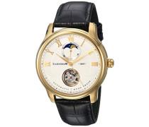 Erwachsene Mondphase Automatik Smart Watch Armbanduhr mit Leder Armband ES-8066-03