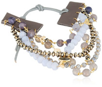 Statement-Armbänder Messing - BGZ-5459 Blue Lace Agate Mix