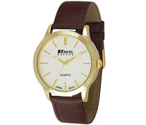 Armbanduhr Mens Deluxe Classic Watch on a Genuine Leather Strap. Analog Leder Braun RD006.1GL