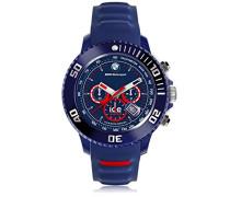 - BMW Motorsport (sili) Blue Red - Blaue Herrenuhr mit Silikonarmband - Chrono - 001132 (Large)