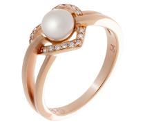 Motivring mit Rund Perle Ringgröße 56 (17.8) - ZR-7233/RG/56