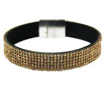 Damen-Armband rhodiniert Glas 19 cm - 4574