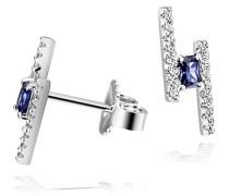 Damenohrstecker sparkling blue 925 Sterlingsilber 2 tansanitfarbener Zirkonia